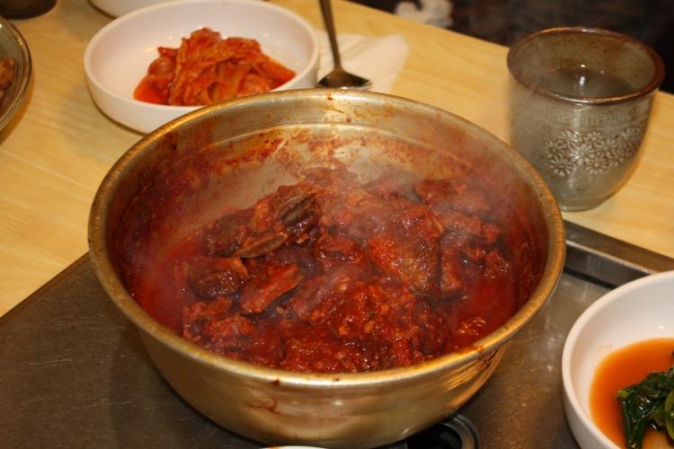 Spicy galbijjim at Dongin Dong
