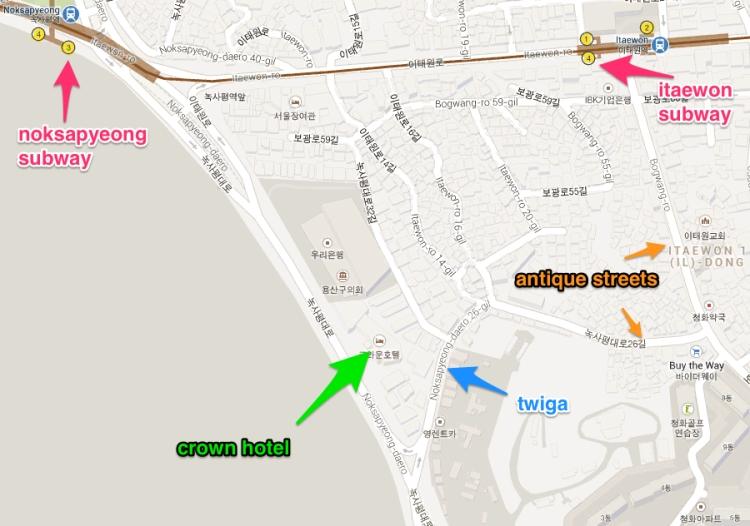 Twiga map