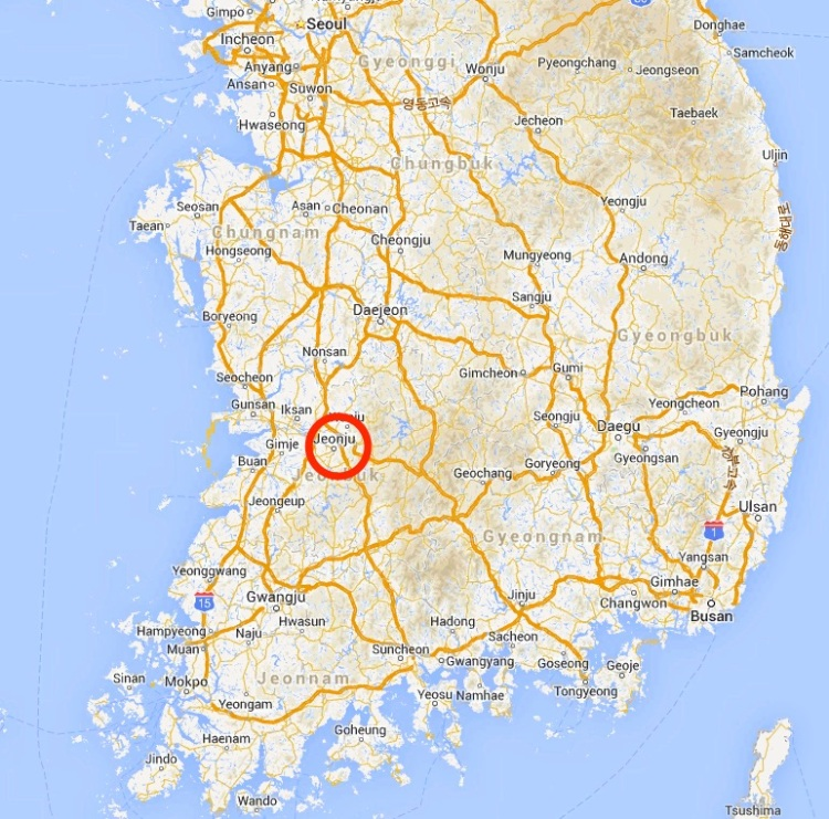 Soju Sunrise - Jeongju map