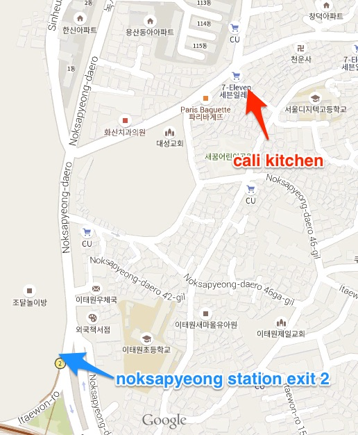 cali kitchen map