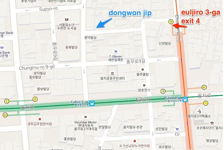 Dongwon jip map